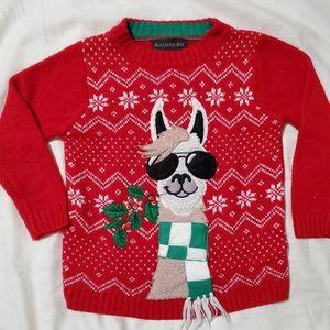 Llama ugly Christmas sweater